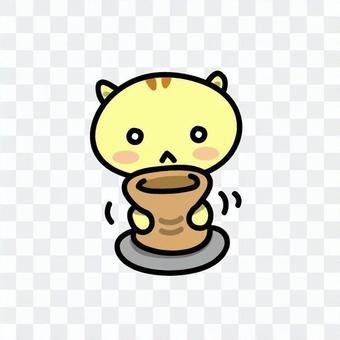 製作陶器的Nyanko:2。準備形狀