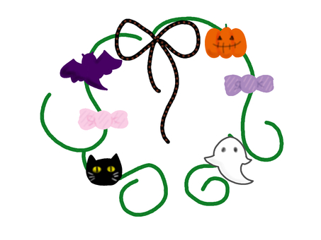 Fashionable Halloween wreath