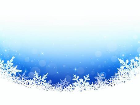 冬天背景·雪花