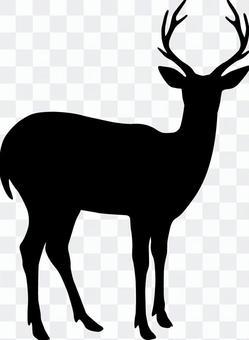 Deer _ Silhouette _ Black