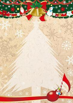 クリスマス縦型クラフト風フレーム