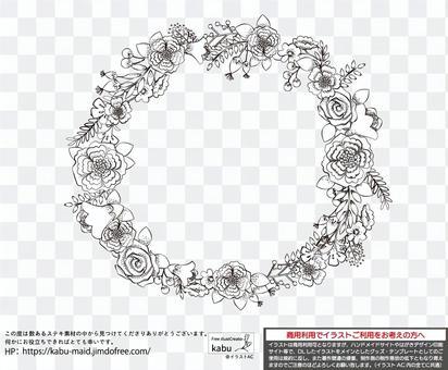 時尚手寫花花環風格畫框