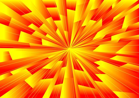 強力集中線(紅到黃)