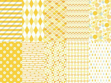 Geometric pattern background set (orange)