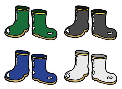 Handwritten style boots