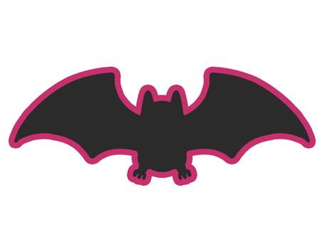 帶線的蝙蝠剪影圖標