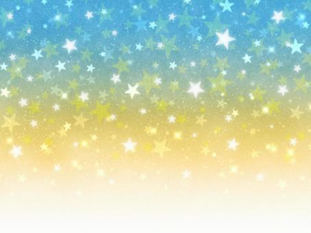 黄色×青 宇宙 壁紙
