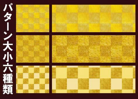 黃金色折疊樣式背景紋理檢查器模式