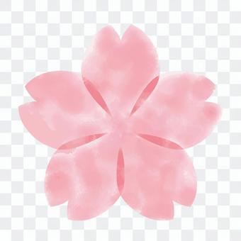Sakura watercolor icon / frame 1