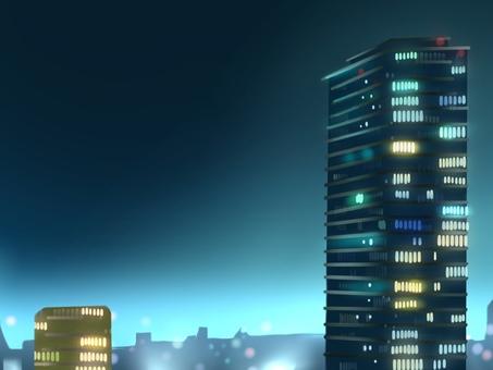 夜間建築背景圖