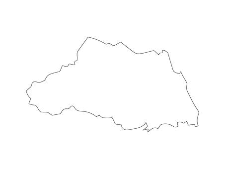 埼玉縣的空白地圖
