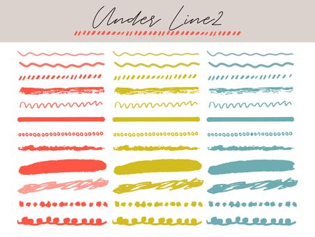 Various underlines 2 (dullness)