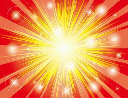 爆炸的閃光紅色集中線