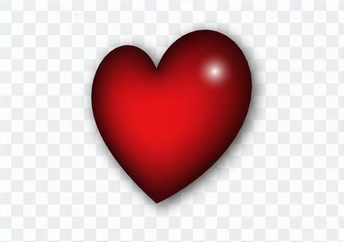 側身三維心臟插圖素材(帶陰影)