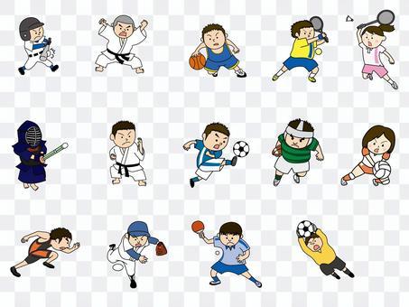 體育人物插圖集
