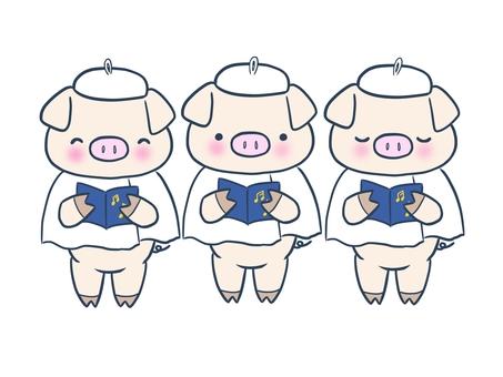 小豬合唱團(白色)