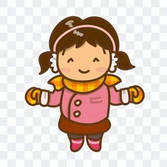厚女孩女孩的插圖