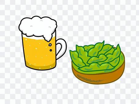 毛豆和啤酒