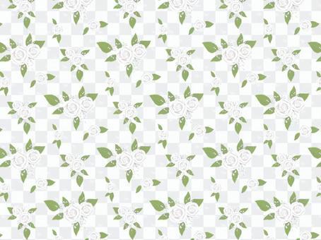 白いバラとリボンのパターン