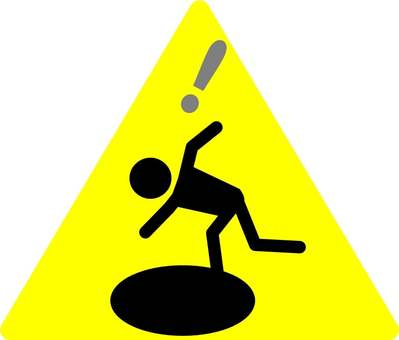 """""""Caution at your feet"""" icon 3"""