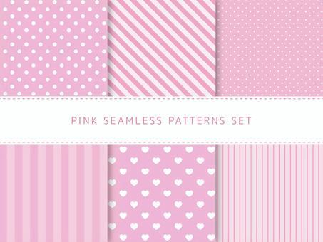 粉紅色的無縫模式集
