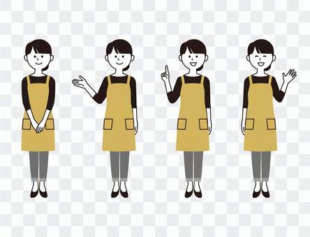 圍裙女人(2色風)