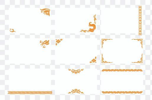 Asian design business card 02 (orange)