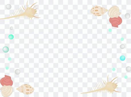 貝殻のフレーム2