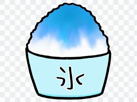 刨冰,藍色夏威夷風味