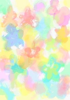 Flowers_painted水彩畫art_wallpaper