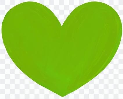 心綠色無字母純色
