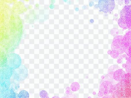 閃光圓點彩虹色框