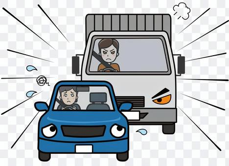 Illustration of receiving road rage