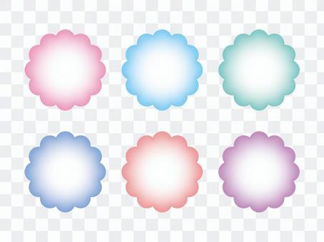 蠟筆色的mokumoku框架