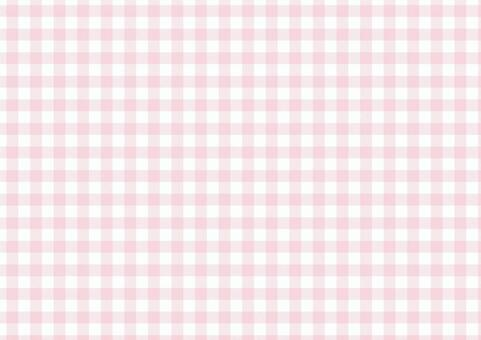 方格布式<柔和的粉紅色>