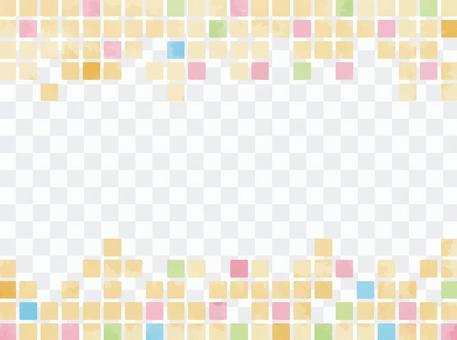 帶有水彩質感的彩色瓷磚狀材料