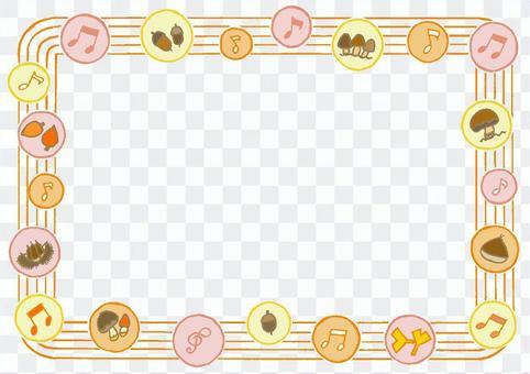 水平框架秋天波爾卡圓點1橙色