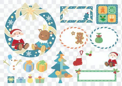 クリスマスぬいぐるみ素材セット 1