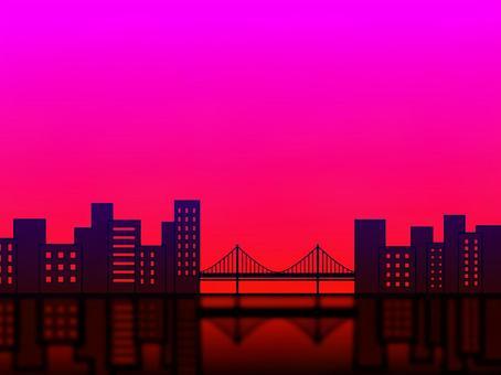 日落日出建築橋樑背景建築