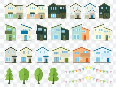 Housing illustration set