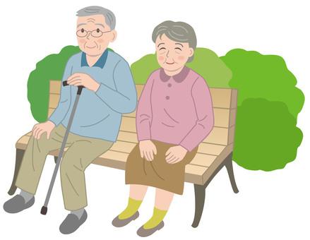 2 elderly people