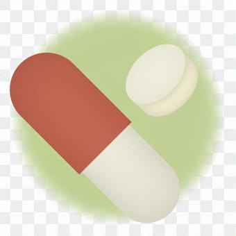 膠囊和片劑,紅色