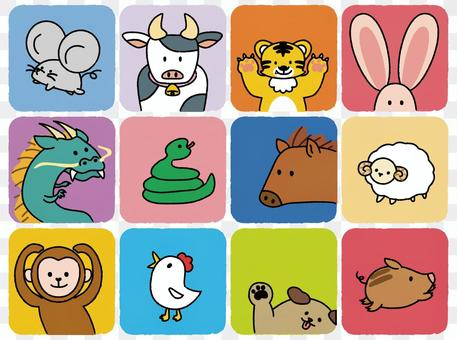 Illustration of loose zodiac signs * Colorful