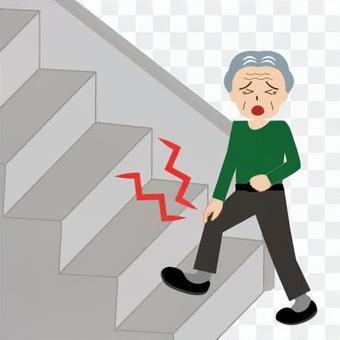 不能爬樓梯的圖像(祖父)