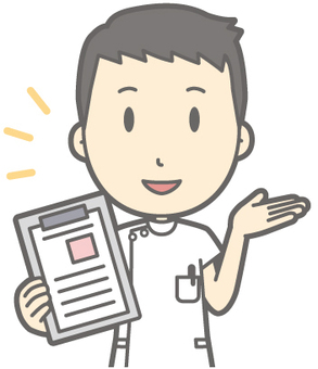 Male nurse - file - bust