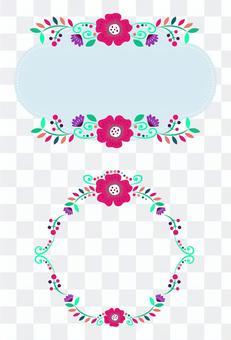 多彩的花框架