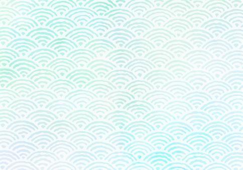 背景材料海浪藍綠色