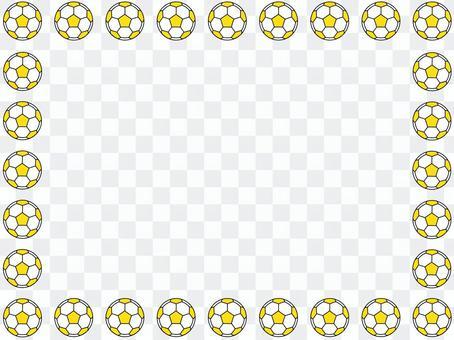 黃色的足球框架