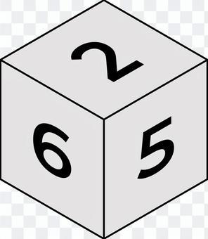 数字の6面ダイス