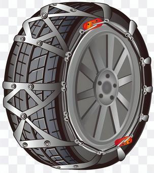 Tire chain (non-metal)